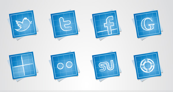 Blueprint Social Icons Set