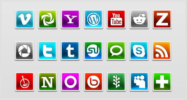 35 Modern Social Icons