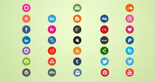 33 Free Social Media Icons