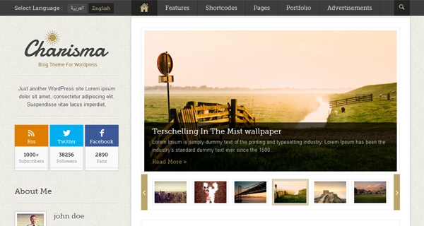 Charisma WordPress Theme