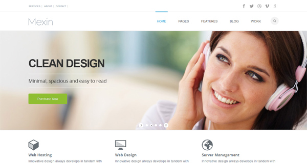 Mexin WordPress Theme