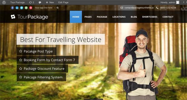 Tour Package WordPress Theme