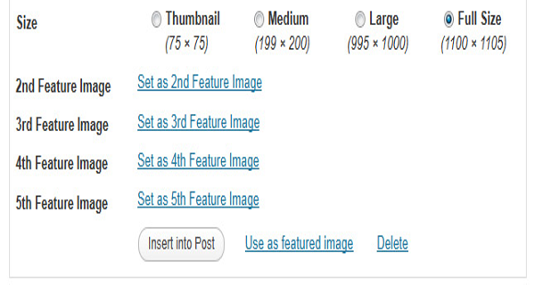 Multiple Featured-images
